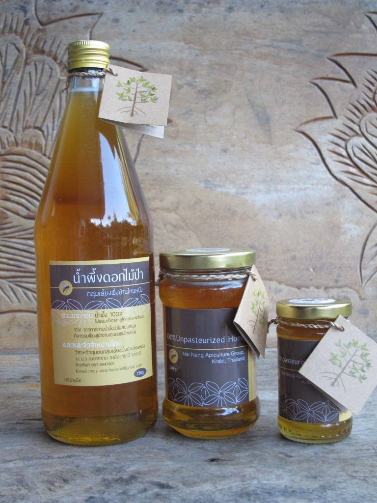 Honey partly produced from mangrove flowers by Nai-Nang village