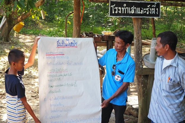Ban Klong Kum community presented their apiculture plans