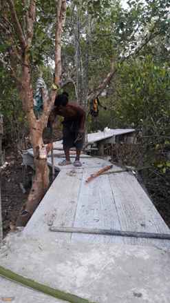 Construction of the nature trail in Ta-Sanook is advancing quickly